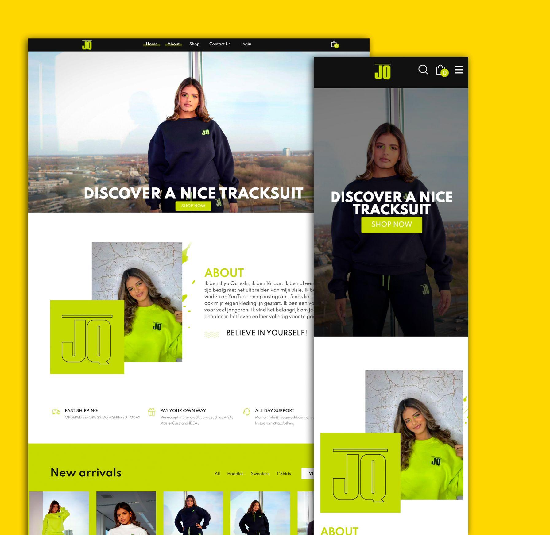 ecommerce website voorbeeld